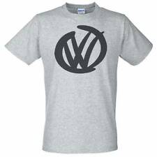 Grey T-Shirt with VW Logo - Golf Camper Polo GTI Beetle T5 T4 Volkswagen