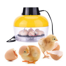 Mini Hatching Egg Incubator Chicken Hatcher with Egg Turning 8 Egg Capacity
