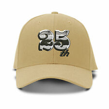 25Th Anniversary Embroidery Embroidered Adjustable Hat Baseball Cap