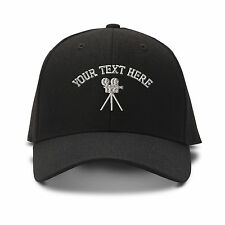 Your Text Here Custom Camera Embroidery Embroidered Adjustable Hat Baseball Cap