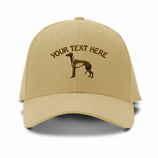 Your Text Here Custom Greyhound Embroidered Adjustable Hat Baseball Cap