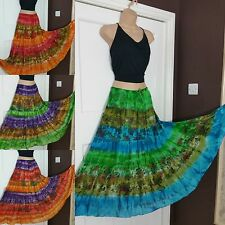 Gypsy Boho Hippy Long Tie and Dye ladies 100%cotton colorful skirt frsz 10-16