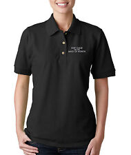 Keep Calm I Am The Maid Of Honor Embroidery Embroidered Woman Golf Polo Shirt