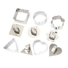 5 Style Stainless Steel Mousse Cake Ring Mold Layer Slicer Cook Cutter Bake Tool