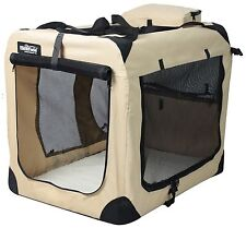 EliteField Beige 3-Door Folding Soft Dog Crate Cage Kennel 4 Sizes