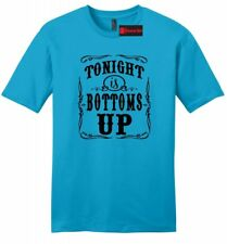 Tonight Is Bottoms Up Mens Soft T Shirt Country Music Party Beer Redneck Tee Z2