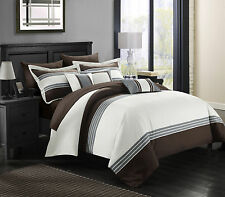 Chic Home 10 Piece Falcon Hotel Collection Bed in a Bag Comforter set, Brown