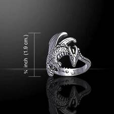 Mystic Winged DRAGON Sterling Silver Ring - Symbol of Strength
