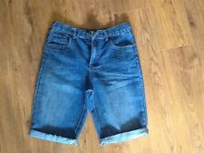 Boys Primark Blue Denim Shorts age 12-13years. BNWOT