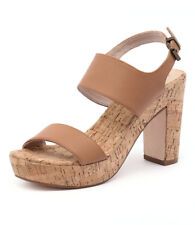 New Nude Soul Tan Leather Women Shoes Casuals Sandals Heels