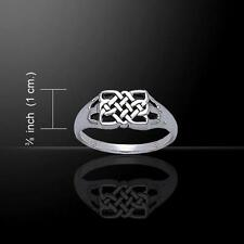 Celtic Knotwork Rectangle Silver Ring TR3391