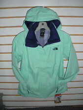 THE NORTH FACE WOMENS RESOLVE WATERPROOF JACKET- #AQBJ-SURF GREEN- S, L - NEW