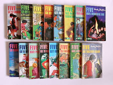 16 x Vintage 1970 Enid Blyton Famous Five Paperback Books by Knight Books