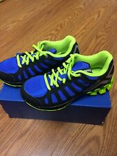 "Boys/Juniors Reebok Zigtech ""Zigkick"" Running Shoes Black/Blue/green V45674"