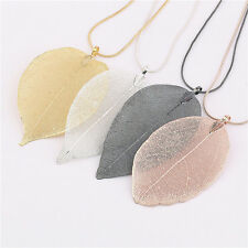 23inch Multi-Colors Chic Leaf Pendant Alloy Long Sweater Chains Necklace Jewelry