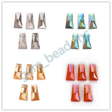 20x10mm Trapezia Faceted Glass Crystal DIY Jewelry Necklace Findings Bead 5/10ps