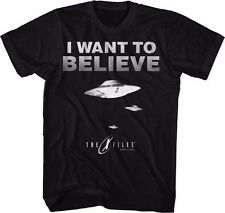X-Files I want To Believe UFO Licensed Adult Graphic Tee Shirt