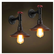 Iron Industrial Water Pipe Vintage Retro Wall Lamp Sconce Edison Beside Light