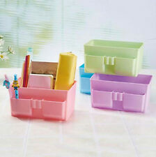 Stationery Decor Storage Box DIY Desk Organizer Case Cosmetic Makeup Plastic