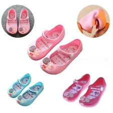 Children Girls Shoes Soft Lollypop Sandals Jelly Shoes Anti-Slip Mary Jane Flats