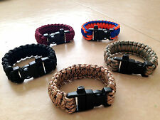 550 Paracord Military Survival Bracelet Cobra Weave-Hunting, Hiking, Tactical