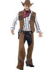 SALE! Adult Wild West Fringe Cowboy Mens Fancy Dress Stag Party Costume Outfit