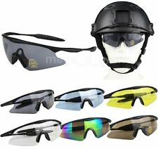 UV400 Tactical Hunting Airsoft Shooting Goggles Sunglasses Cycling Sport Glasses