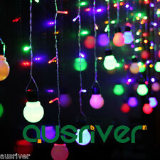4*0.65M/140LED Waterfall Bulb Pattern String Lights Christmas/Wedding/Party Deco
