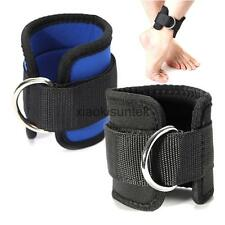 Fitness Ankle Strap Gym Cable Attachment Thigh Leg Pulley Support Weight Lift