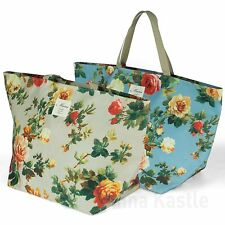 AnnaKastle Floral Print Shoulder Picnic Beach Bag Extra Large Shopper Tote