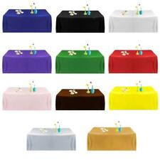 57'' Tablecloth Square Satin Table Cover for Banquet Party Wedding 11 Colors