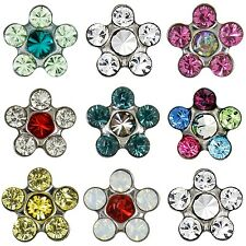 Studex Sensitive 5mm Coloured Daisy Crystal Stone Hypo-allergenic Stud Earrings