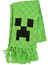 Official Mojang Video Game Minecraft Creeper Face Premium Scarf