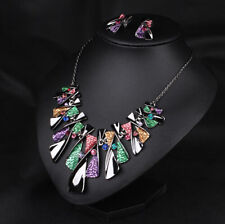 Statement Fashion Crystal Jewelry Choker Bib Women Pendant Necklace Chain Chunky