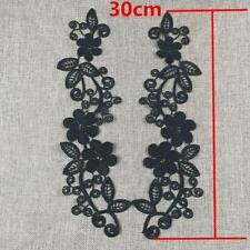 1 Pair Floral Venise Lace Applique Embroidered Wedding Lace Motif Sewing Crafts