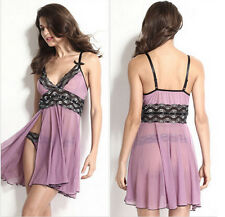 HOT Sexy Lingerie G-string Sleepwear Women Babydoll Dress Nightgown Underwear