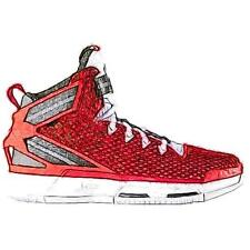 adidas D Rose 6 - Boys' Primary School Basketball Shoes (Scarlet/White/Black)