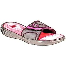 Under Armour Ignite VII Slide - Girls' Primary Sch. Casual Shoes (BK/Cerise)