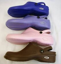 1 Natural Uniforms Women Ultralite Nurse Clogs W Heel Strap Eva Foam 9012 Sz 10