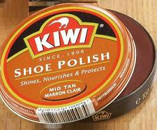 Kiwi Shoe Shine Wax Polish Paste Leather Care Boot HI-Gloss 1 1/8oz Mid-Tan