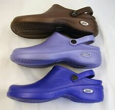 1 Natural Uniforms Women Ultralite Nurse Clogs W Heel Strap Eva Foam 9012 Sz 6