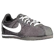 Nike Cortez - Boys' Primary School Running Shoes (Black/White/Nylon)