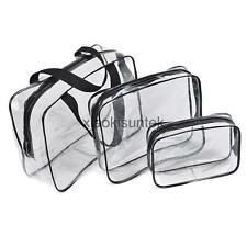 3pcs/set PVC Transparent Makeup Cosmetic Bag Toiletry Pouch Organizer Handbags
