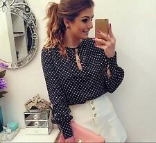 Long Sleeve Casual Round Neck Tops Shirt Women Chiffon Blouses Summer