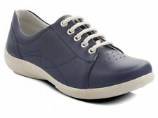 CLEARANCE Padders JESSICA Ladies Leather Lace Wide Dual Fit Shoes Navy | RRP £65