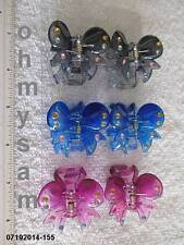 NEW MULTICOLOR PLASTIC JAW HAIR CLIP / COMB / CLAW /STONE / FLAT BOTTOM SMALL