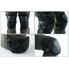 5Color Airsoft Tactical Knee & Elbow Pads Set Gear  Hunting Shooting Pad