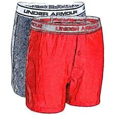Under Armour Boxer Casual Jock 2-Pack - Boys' Primary School (Black/Risk Red)