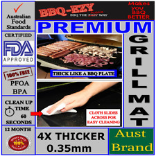 BBQ Grill Mat Rigid PREMIUM (4 x Thicker) Teflon BBQ Sheet +Money Back Guarantee