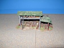Model Power HO Scale Lumber Shed.  Custom Built, Weathered & Detailed